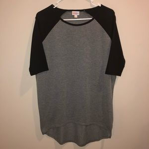 LulaRoe Black and Gray T Shirt long